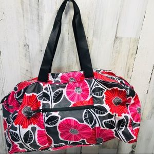 Vera Bradley Collapsible Duffle Cherry Blossoms